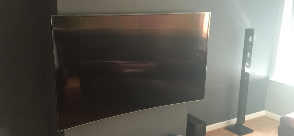 curved TV wall mounting Bradford Leeds Huddersfield Halifax