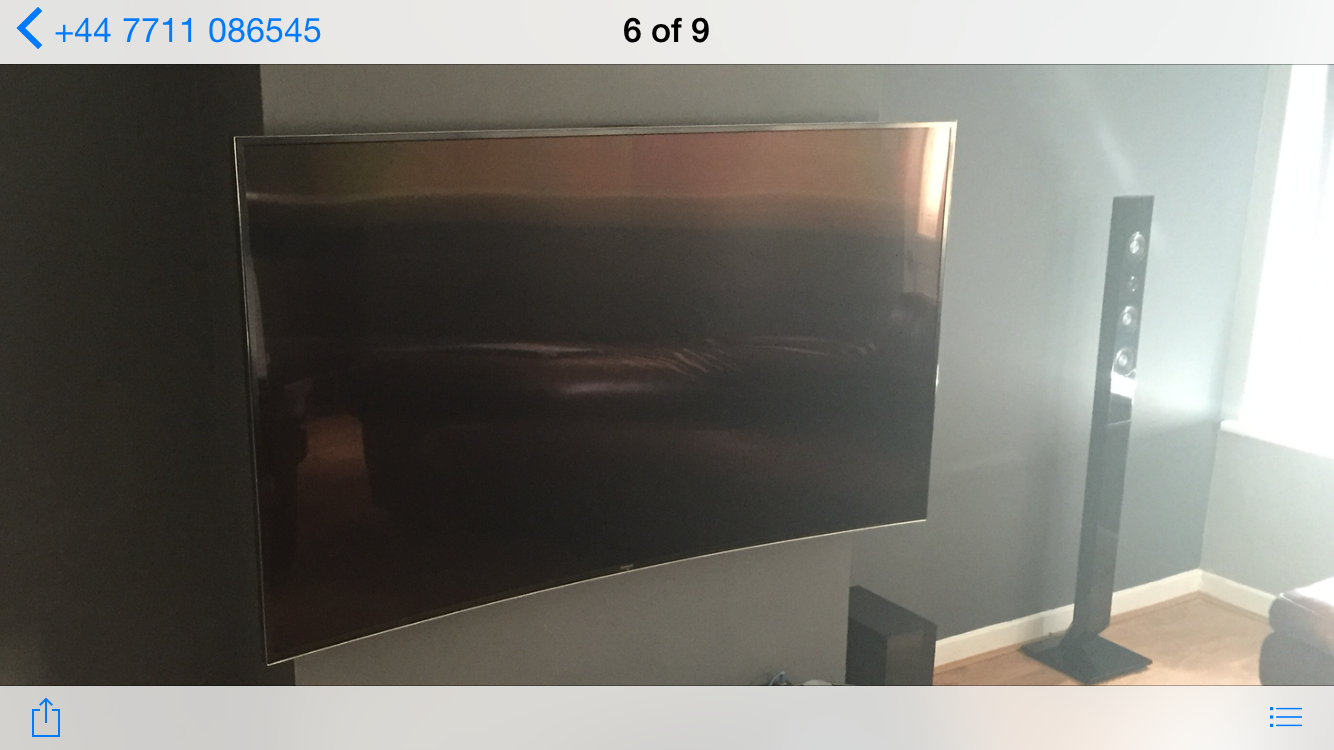 Curved TV Screen Wall Mounting Hudds Halifax | Aerial Waves